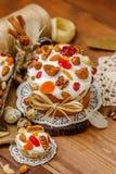 Традиционные торт и пирожные пасхи Стоковое Фото