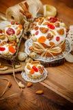 Традиционные торт и пирожные пасхи Стоковые Фото