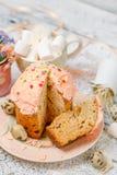 Традиционные торт и пирожные пасхи Стоковое Изображение