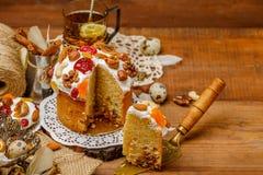 Традиционные торт и пирожные пасхи Стоковая Фотография