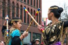 Традиционные филиппинские танцоры Стоковые Фотографии RF
