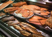 Традиционные финские рыбные блюда, северная европейская еда стоковая фотография rf