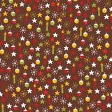 Традиционные Doodles рождества зимы бесплатная иллюстрация