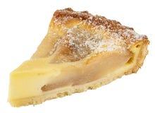 Традиционный американский яблочный пирог изолированный на белизне стоковые изображения rf