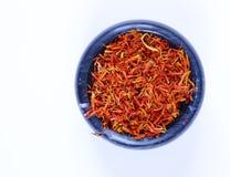 Традиционный ароматичный шафран специи Стоковые Изображения