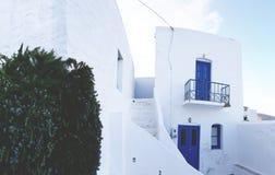 Традиционный греческий дом в Serifos Стоковые Изображения RF