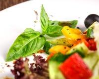 Традиционный греческий салат с свежими овощами Стоковая Фотография
