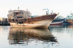 Традиционный деревянный грузовой корабль Стоковые Изображения