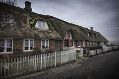 Традиционный дом в Nordby на датском острове Fano стоковое фото rf