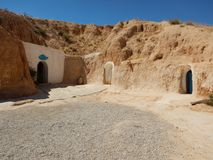 Традиционный дом Berbers в Matmata, Тунисе Стоковая Фотография RF