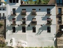 Традиционный испанский Белый Дом глины Стоковые Изображения