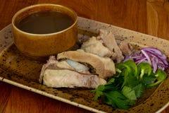 Традиционный кавказский суп Hashlama Стоковые Фотографии RF