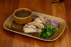 Традиционный кавказский суп Hashlama Стоковое фото RF