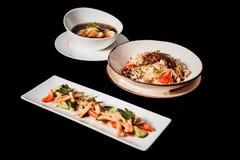 Традиционный корейский обедающий, комплект нескольких блюд Стоковые Изображения