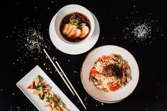 Традиционный корейский обедающий, комплект нескольких блюд Стоковое Изображение RF