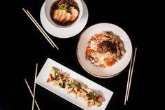 Традиционный корейский обедающий, комплект нескольких блюд Стоковая Фотография