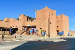 Традиционный магазин в Ouarzazate, Марокко стоковые фотографии rf