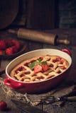 Традиционный пирог клубники Стоковое Изображение RF
