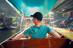 Традиционный плавая рынок Стоковое Фото