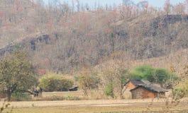 Традиционный племенной дом Индия хаты Стоковые Изображения RF