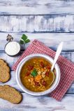 Традиционный пряный суп с рисом Стоковые Фотографии RF