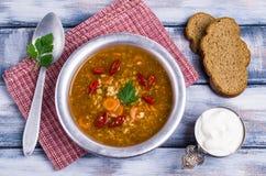 Традиционный пряный суп с рисом Стоковые Изображения RF