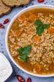 Традиционный пряный суп с рисом Стоковая Фотография