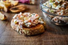 Традиционный русский салат стоковые фотографии rf