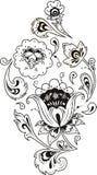 Традиционный русский цветочный узор Khokhloma Стоковые Фото