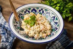 Традиционный русский vegetable салат Стоковые Фотографии RF