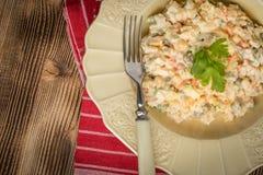 Традиционный русский vegetable салат Стоковые Изображения