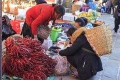 Традиционный рынок в Shaxi Китае Стоковое Фото