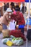 Традиционный рынок в Shaxi Китае Стоковая Фотография