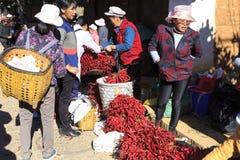 Традиционный рынок в Shaxi Китае Стоковое фото RF