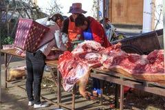 Традиционный рынок в Shaxi Китае Стоковые Изображения