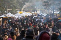 Традиционный снеток 2018 Palanga фестиваля рыб, Литва Стоковая Фотография RF