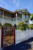 Традиционный старый дом рамки тимберса, многоуровневый Стоковое фото RF