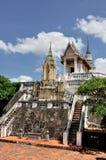 Традиционный тайский висок в дворце Khao Wang королевском Стоковые Фото