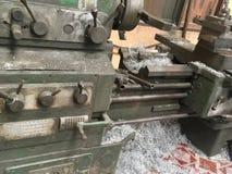 Традиционный токарный станок стоковая фотография rf