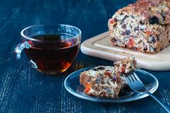 Традиционный торт плодоовощ на Новый Год Стоковые Фотографии RF