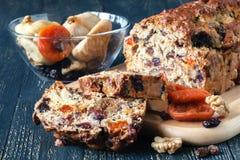 Традиционный торт плодоовощ на Новый Год Стоковые Фото