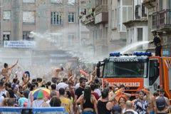 Традиционный фестиваль воды в Villagarcia de Arousa Стоковая Фотография RF