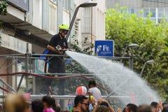 Традиционный фестиваль воды в Villagarcia de Arousa Стоковые Фотографии RF