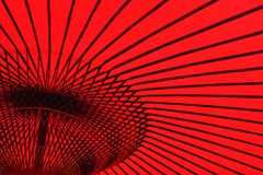 Традиционный японский зонтик для украшений Стоковая Фотография