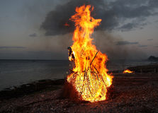 традиционный witchburning Стоковое фото RF