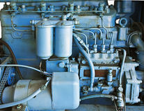 трактор двигателя старый стоковые фото