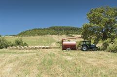 Трактор в поле Стоковая Фотография