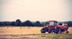 Трактор в ферме Стоковая Фотография