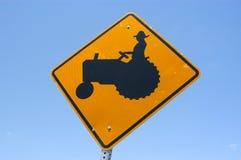 трактор знака Стоковая Фотография