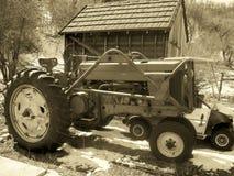 Трактор и сарай в парке Юты Стоковые Изображения RF